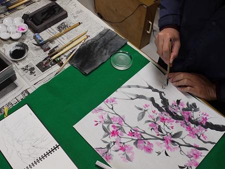 染井吉野を描いています