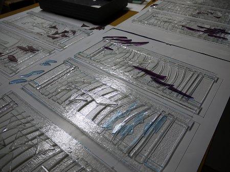 フュージングランプ:ガラス配置を検討中