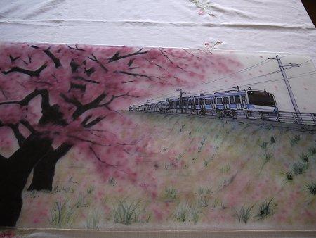 フュージング画「常磐線」