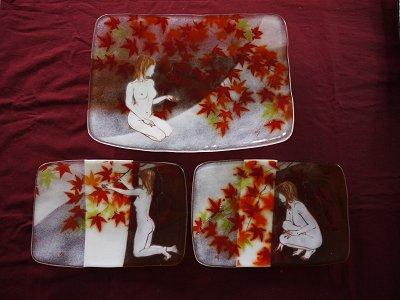 絵皿セット「紅葉」