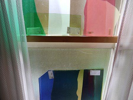 窓辺に並べて、色バランスのチェック