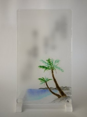 No.027 海とヤシの木