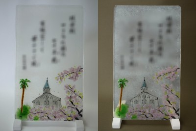 No.134 桜と大浦天主堂