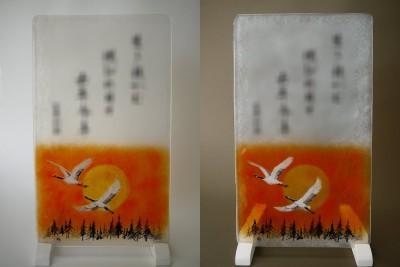 No.159 夕日と鶴