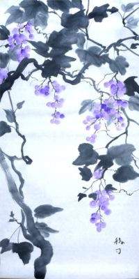 原画は例によって墨画で描きました。