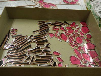 「桜」のピースは、テープ巻きが終わりました
