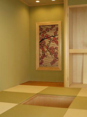 「桜」というステンドグラス作品