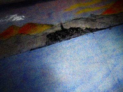 江ノ島の描き込みは、ほぼ陰の状態