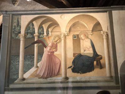 フラ・アンジェリコの「受胎告知」