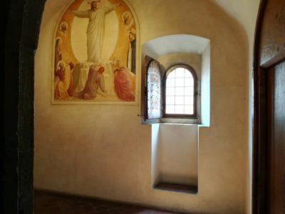 修道僧の寄宿部屋のフレスコ画