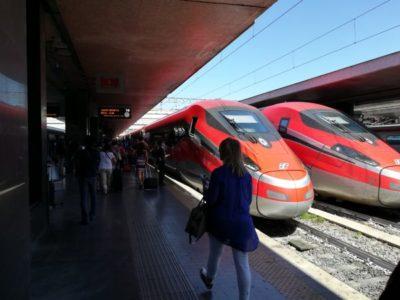 約1時間半でローマ・テルミニ駅に到着です。