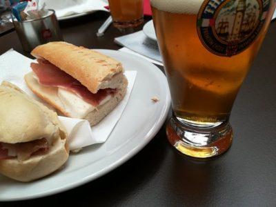 昼はパニーニ(サンドイッチ)ばかりでした