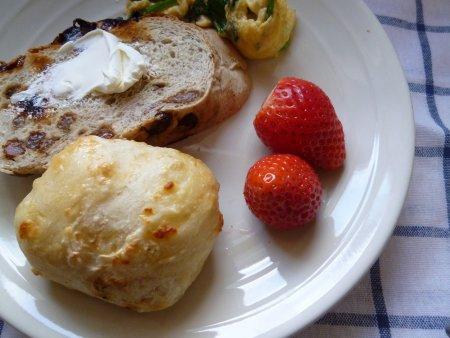今日の朝食。