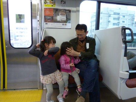 電車に乗るのが大好きな子供達です。