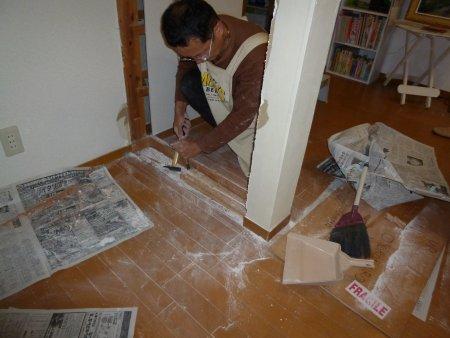 床のハバキとマワリブチも切りました。