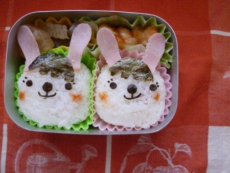 ウサギちゃん弁当。