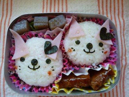 ネコさん弁当。