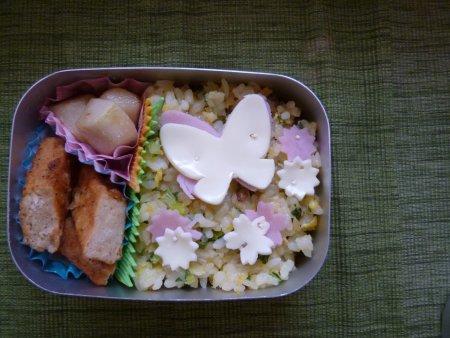 水菜のチャーハン弁当。