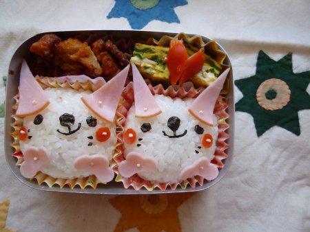 ネコちゃん弁当。