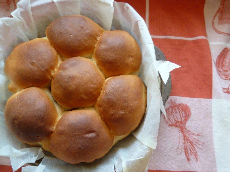 ちぎりパン。カスタードとチョコカスタードが入ってます。